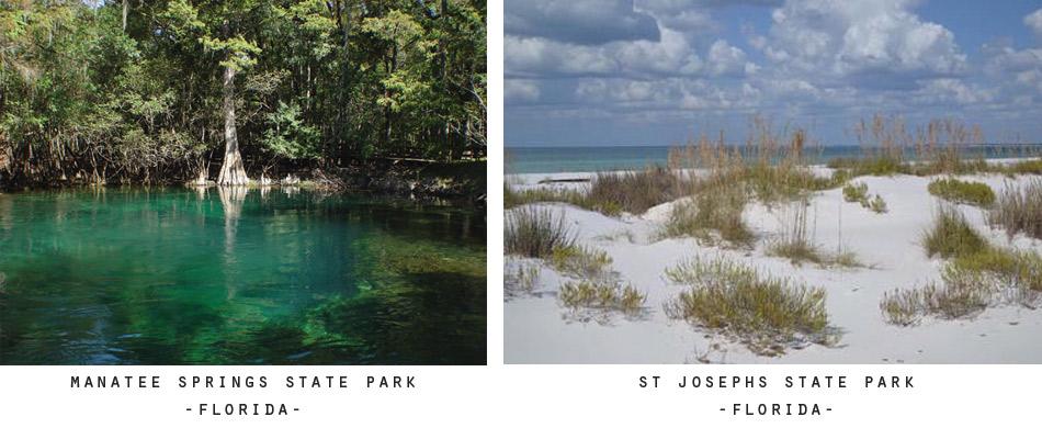 Manatee Springs & St Josephs Sate Parks - Florida