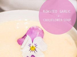 cauliflower soup // one tiny leap